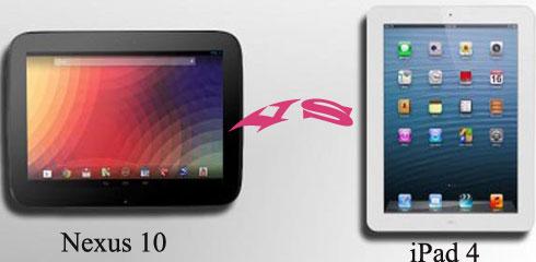 Google's Nexus 10 versus Apple's iPad 4