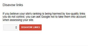 disavow link tool Google