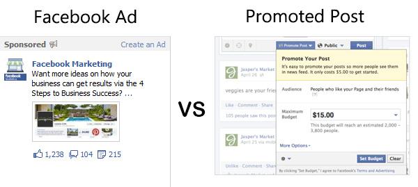 Facebook Ads vs Promoted Posts