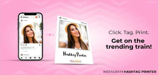 Instagram hashtag printer