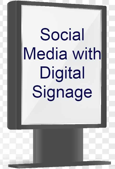 social media with digital signage